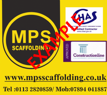 "Scaffolding Banner ""Single Sided"" (915mm x 915mm)"